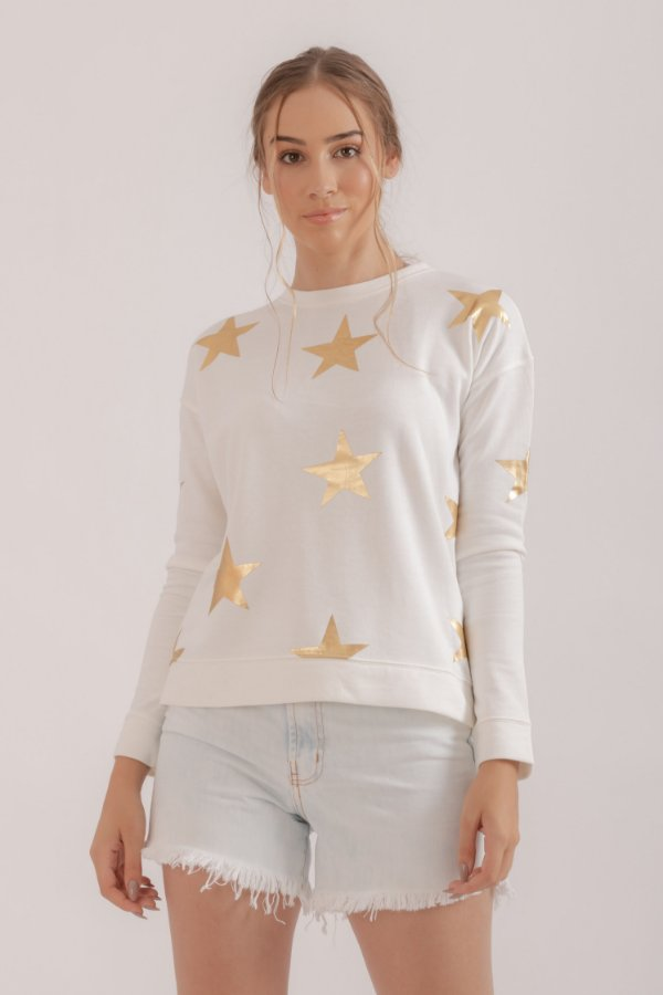 Moletom Star off white