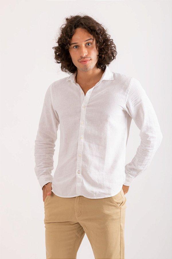 Camisa Linho offwhite