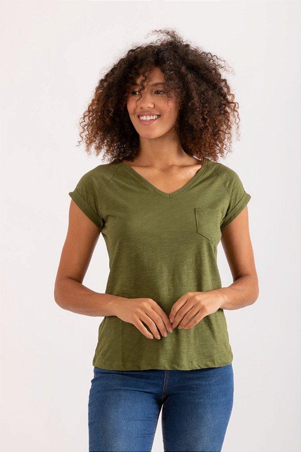 Camiseta Pochê verde