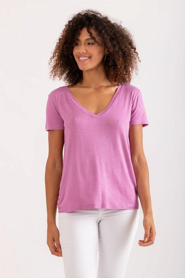 Camiseta Tata rosa queimado