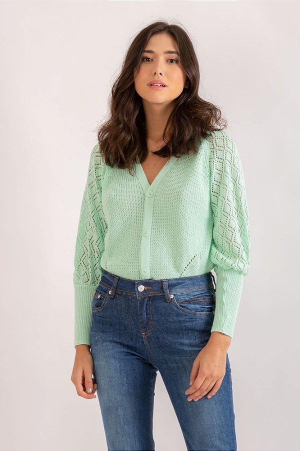 Cardigan Soraya verde claro