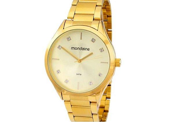 Relógio Dourado Mulher Mondaine