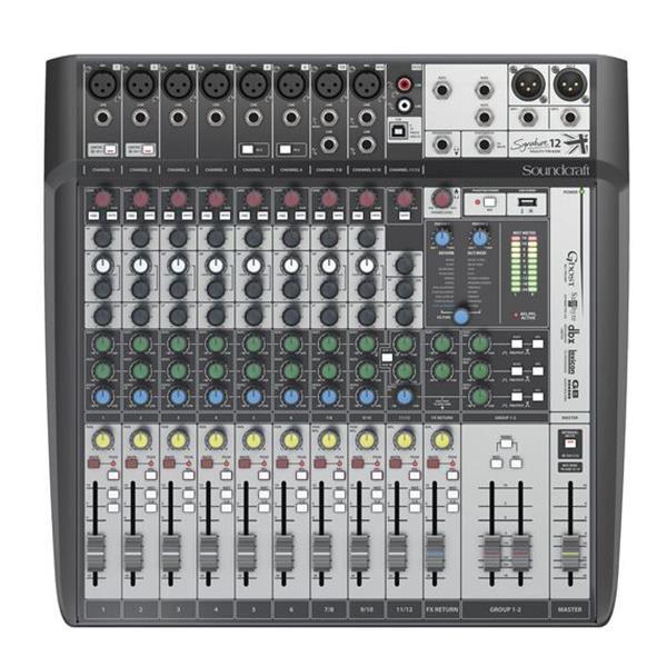 Mesa Soundcraft 12 Canais Signature 12MTK