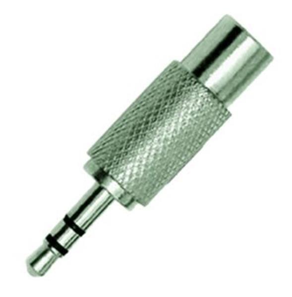 Plug Adaptador CSR RCA Fêmea/P2 Stereo Metal 3105