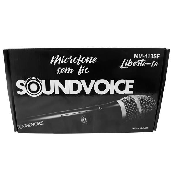 Microfone Soundvoice Sem Fio Mão Simples MM-113SF