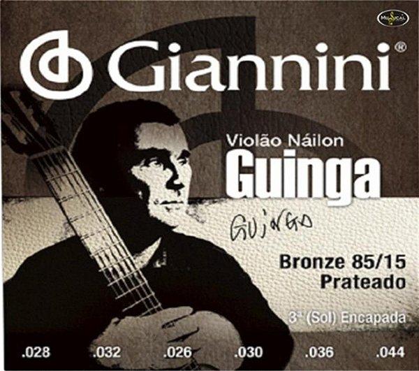 Encordoamento Giannini Nylon T.Pesada Guinga SSCGG 16910