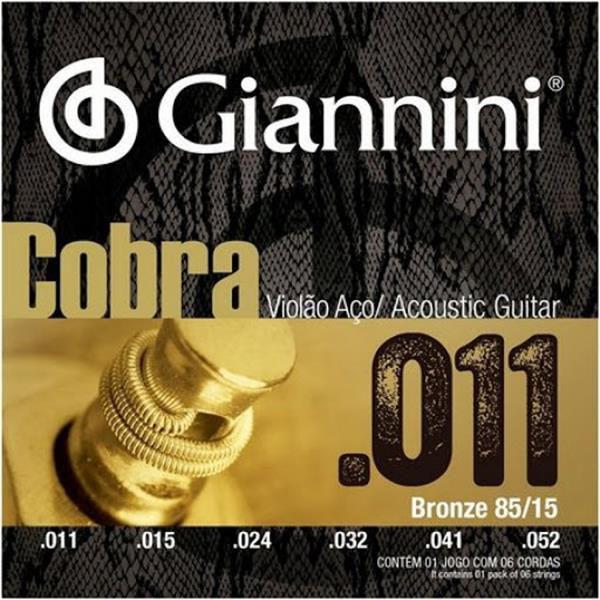 Encordoamento Giannini para Violão Aço Cobra 0.11 GEEFLK 5950