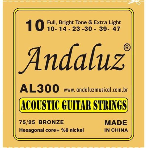 Encordoamento Andaluz para Violão Aço 0.10 AL-300