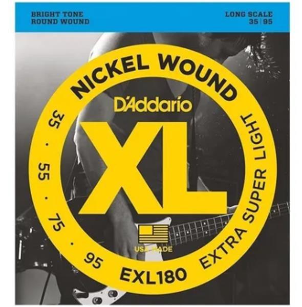 Encordoamento D'addario para Contrabaixo 0.35 4c. EXL-180-4