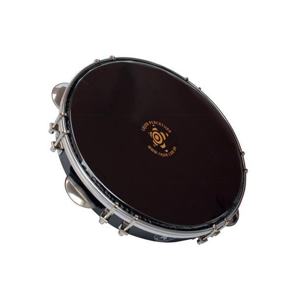 "Pandeiro Cajon Percussion 10"" Preto Inox SPI1007NC"
