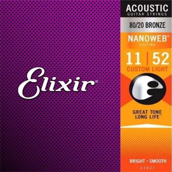 Encordoamento Elixir para Violão Aço 0.11 Nanoweb Bronze 3211