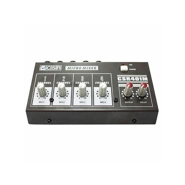 Micro Mixer CSR 4 Canais Mini 401M