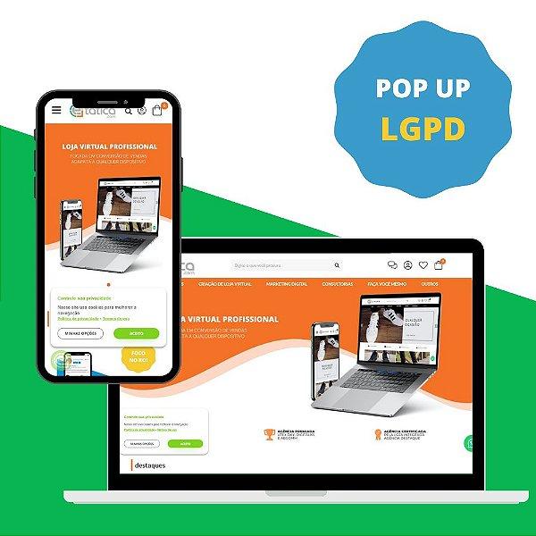 Pop Up de LGPD - Aceite de uso de Dados do Cliente
