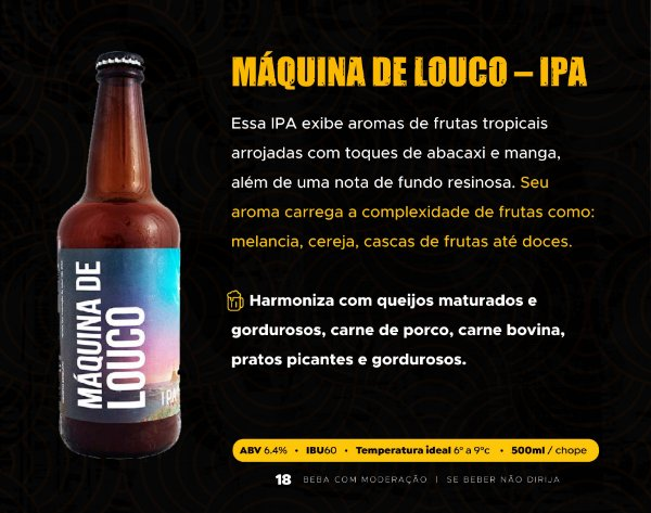 MÁQUINA DE LOUCO – IPA - GARRAFA 500ml
