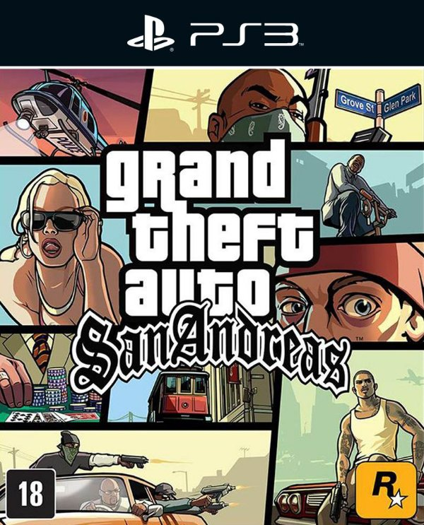 Grand Theft Auto: San Andreas - Ps3 - Mídia Digital