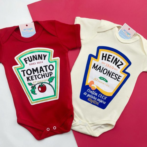 Kit Body Gêmeos Ketchup & Maionese