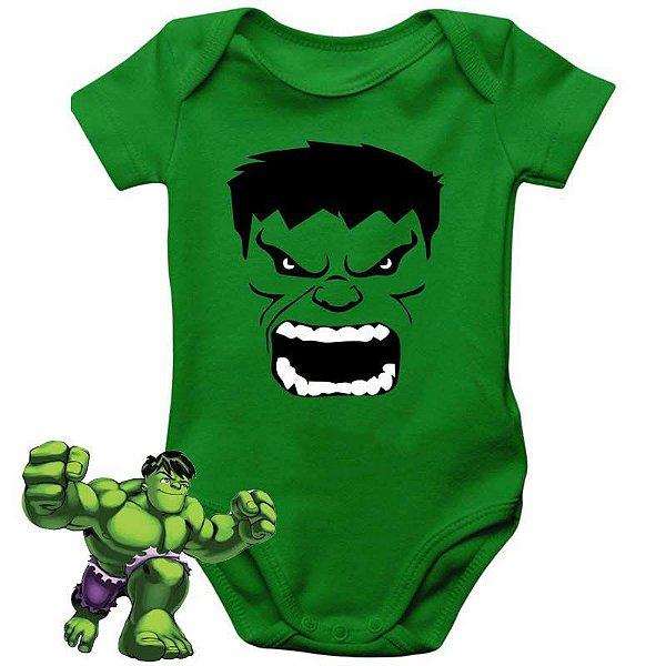 Body Bebê Hulk Rostinho