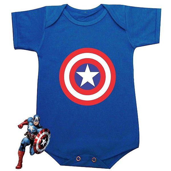 Body Bebê Capitão América Escudo