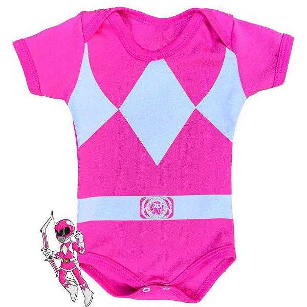Body Bebê Power Rangers Rosa