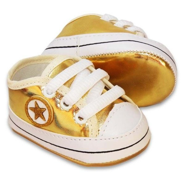 Tênis Bebê Estrelinha Dourado