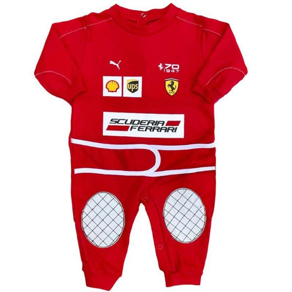 Macacão Bebê Suedine Fórmula 1 Scuderia Ferrari Vettel Raikkonen Race