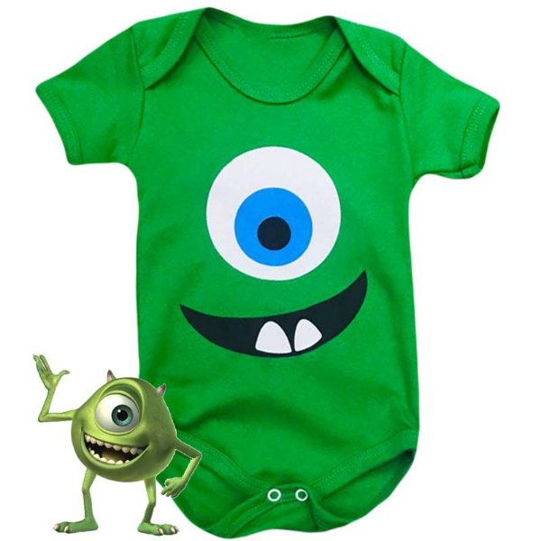 Body Bebê Monstros SA Mike