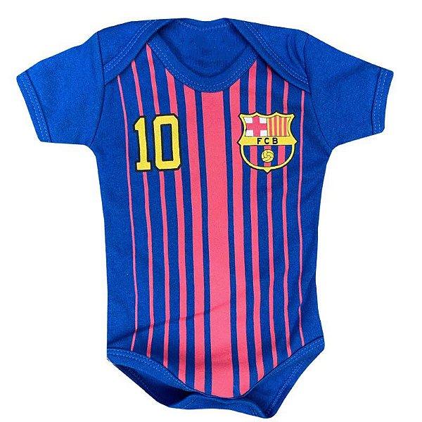 Body Bebê Futebol Barcelona