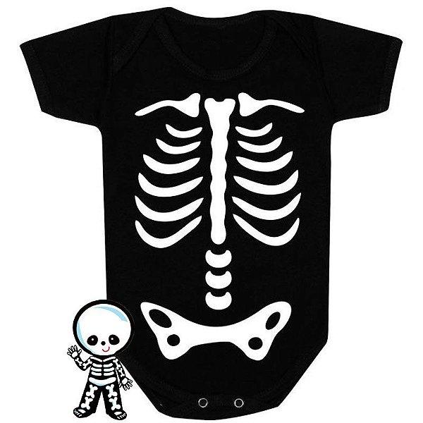 Body Bebê Halloween Caveira Feliz