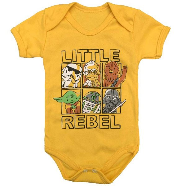 Body Bebê Litlte Rebel Star Wars