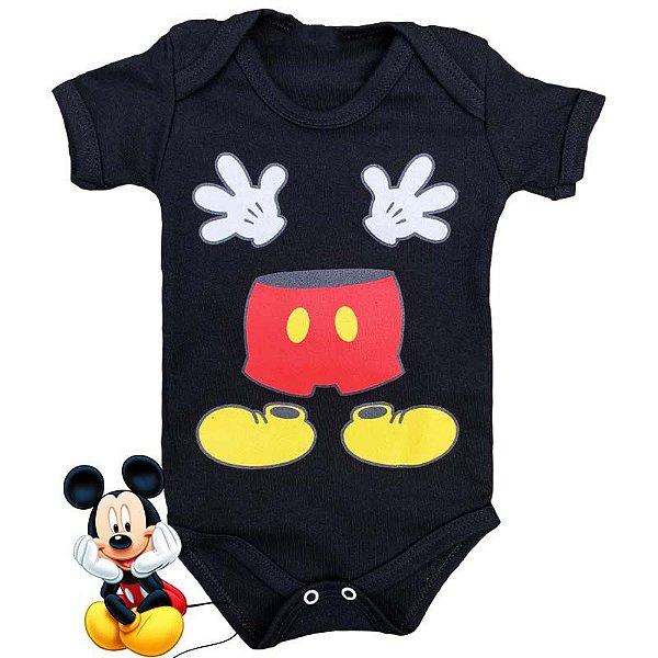 Body Bebê Mickey Maozinha