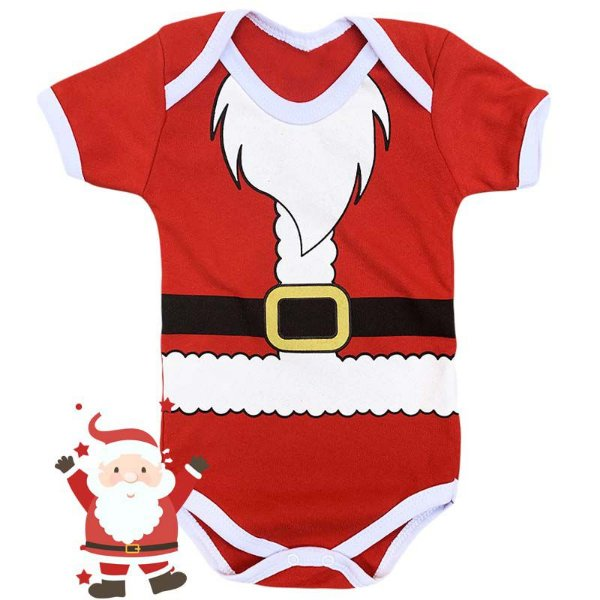 Body Bebê Natal Papai Noel