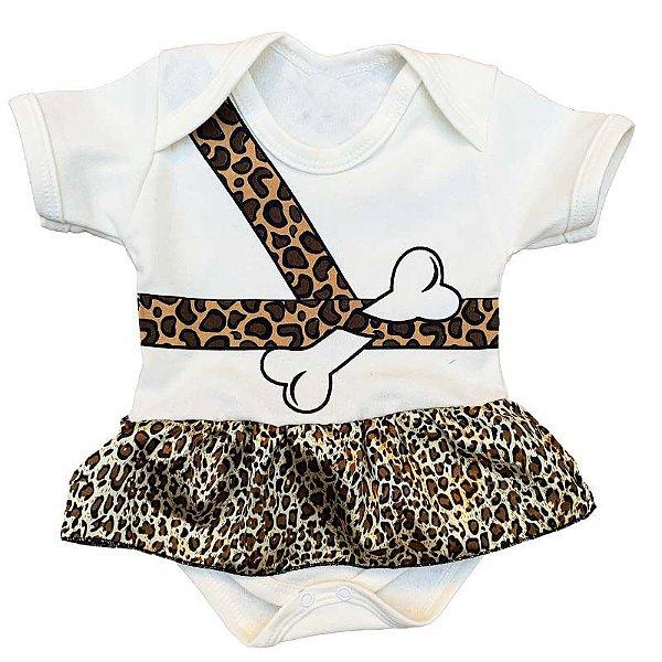 Body Vestido Bebê Oncinha
