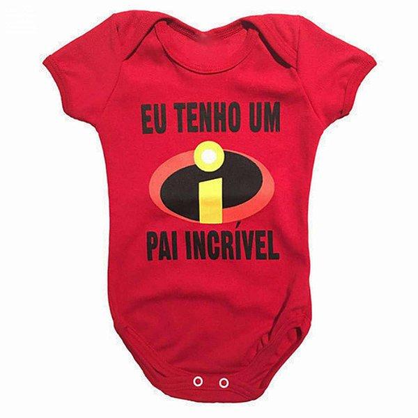 Body Bebê Os Incriveis Tenho um Pai Incrível