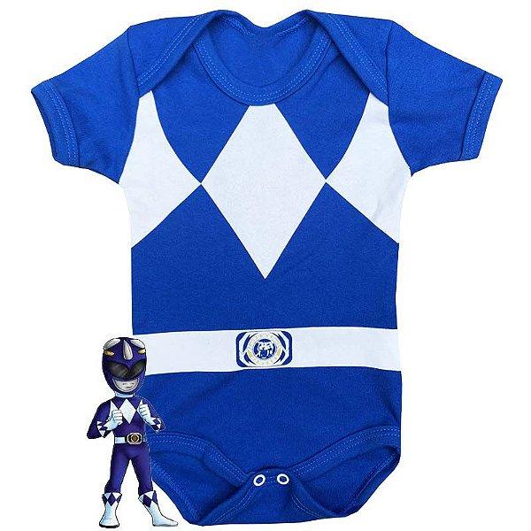 Body Bebê Power Rangers Azul