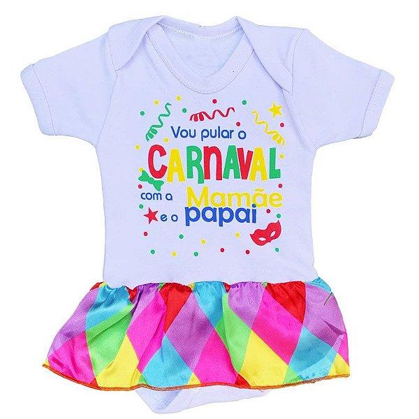 Body Bebê Vestido Carnaval Colorido