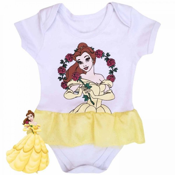 Body Vestido Bebê A Bela e a Fera