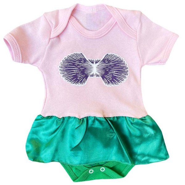 Body Vestido Bebê Pequena Sereia