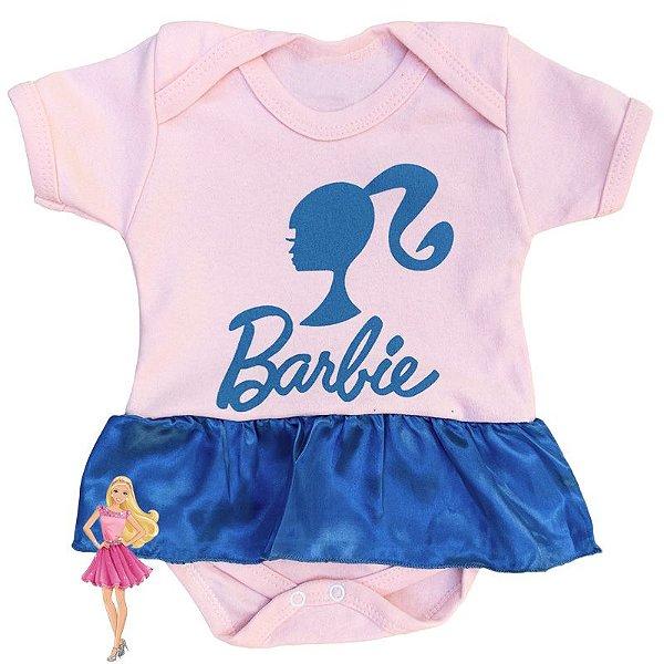 Body Vestido Bebê Barbie