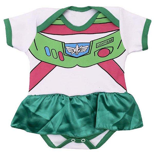 Body Vestido Bebê Toy Story Buzz Lightyear Menina