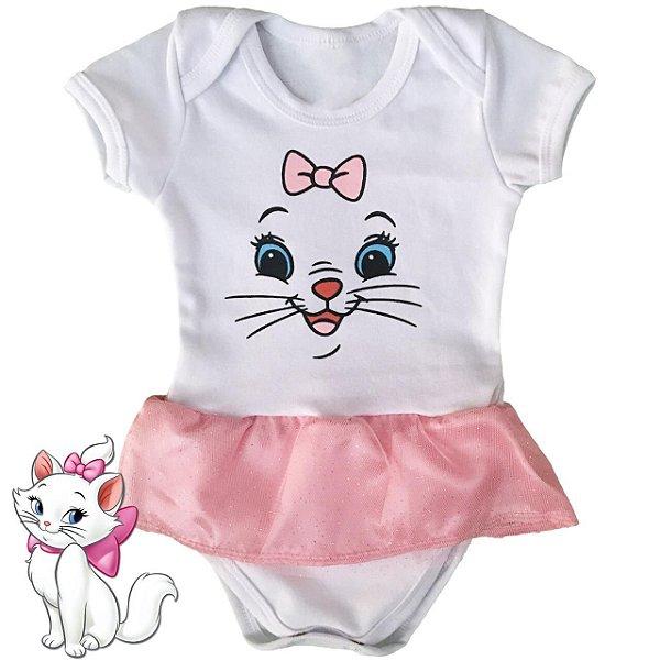 Body Vestido Bebê Gatinha Marie