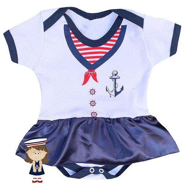 Body Vestido Bebê Marinheira