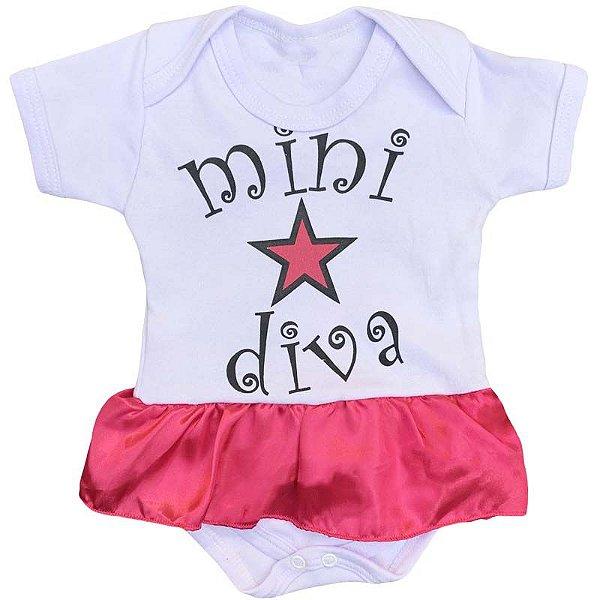 Body Vestido Bebê Mini Diva