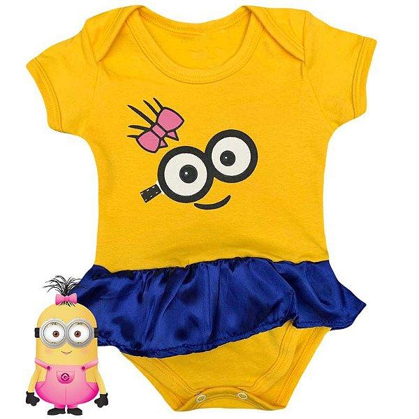 Body Vestido Bebê Minions