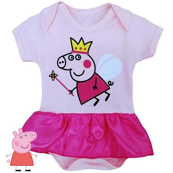 Body Vestido Bebê Peppa Pig