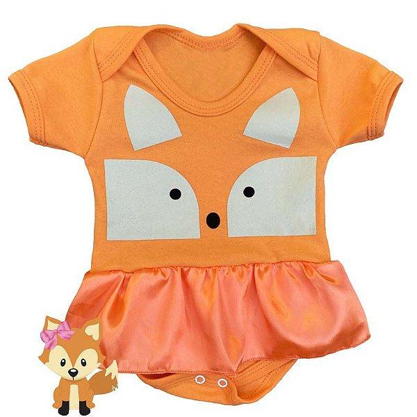 Body Vestido Bebê Bichinhos Raposa