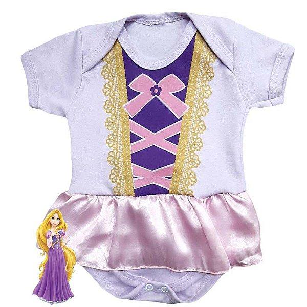 Body Vestido Bebê Rapunzel