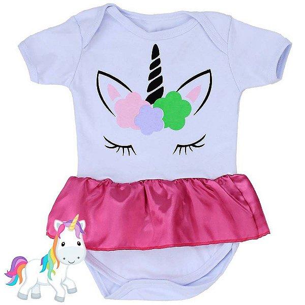 Body Vestido Bebê Unicórnio
