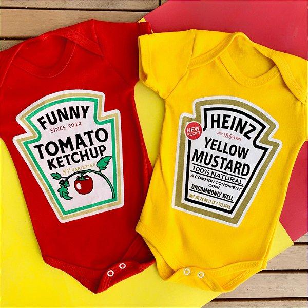 Kit Body Gêmeos Ketchup & Mostarda