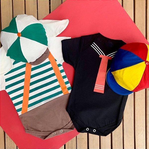 Kit Body Bebê Luxo Gêmeos Turma do Chaves Kiko & Chaves