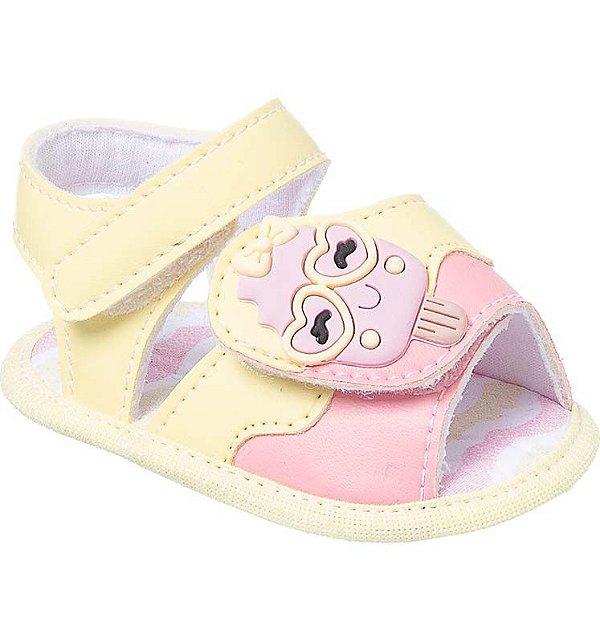 Sandália Bebê Sorvete Candy Colors Amarelo